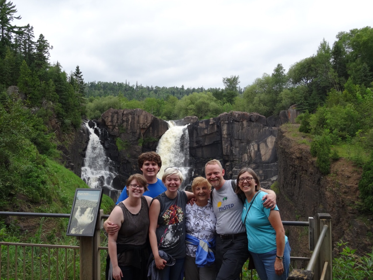 A picture of the six of us at the high falls