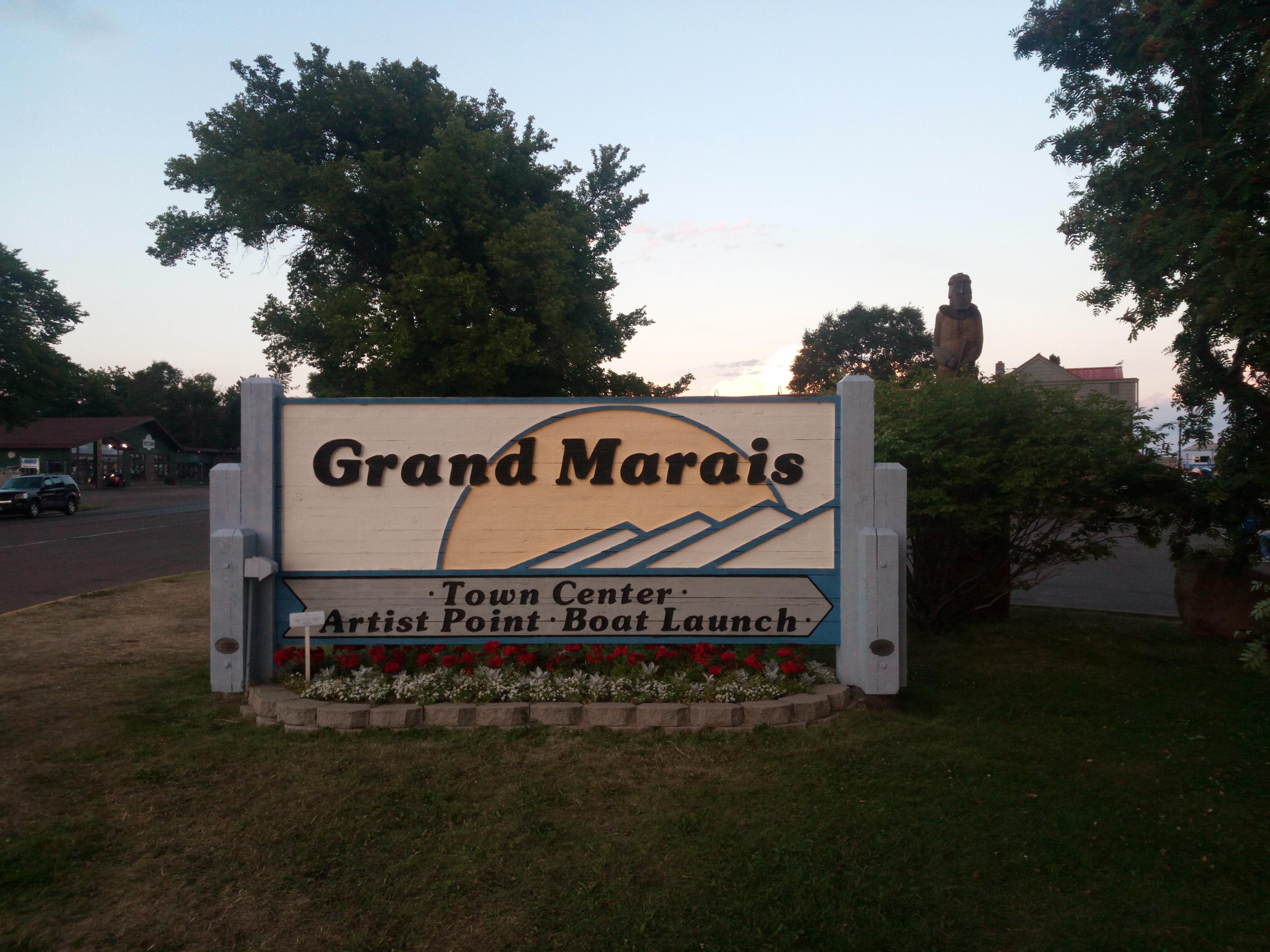 Grand Marais sign